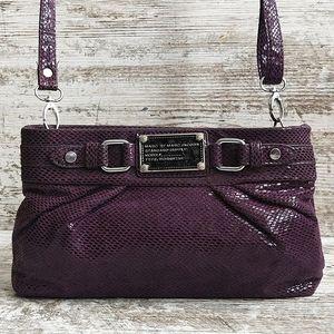 💜Marc Jacobs Purple Snakeskin Print Crossbody Bag